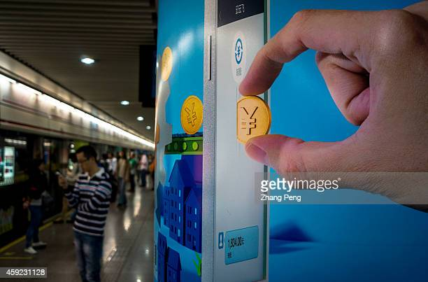 Advertisement of Alipay Wallet mobile app in subway station Through Alipay Wallet mobile app it clears 45 million transactions per day Alipay is the...