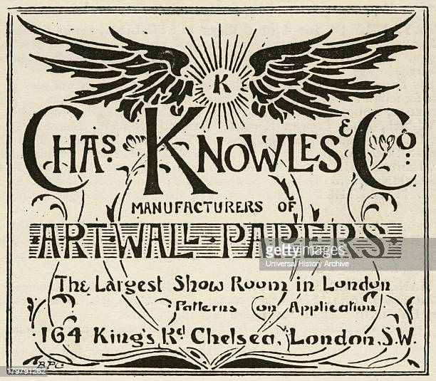 Advertisement of Art wallpapers London 1895