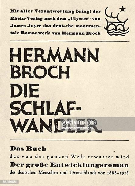 hermann broch the sleepwalkers
