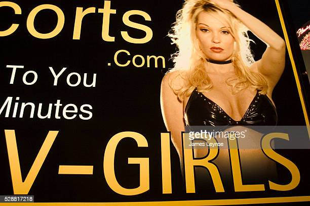 Advertisements for escorts and prostitutes in Las Vegas