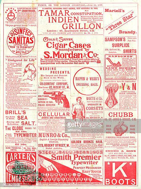 Advertisements from Punch magazine, 1897