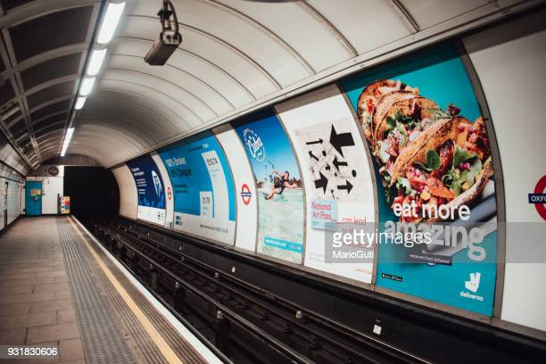 advertisements inside london underground - commercial sign stock pictures, royalty-free photos & images