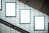 Advertisements inside London Underground