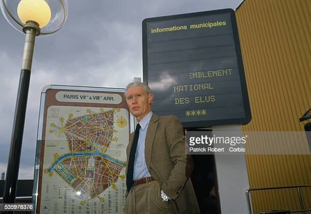 Advertiser JeanClaude Decaux at his outdoor furniture warehouse in Le Bourget He invented the concept of outside advertising such as on benches and...
