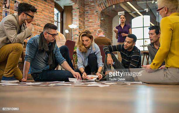 advertising agency team choosing model for campaign - election stock pictures, royalty-free photos & images