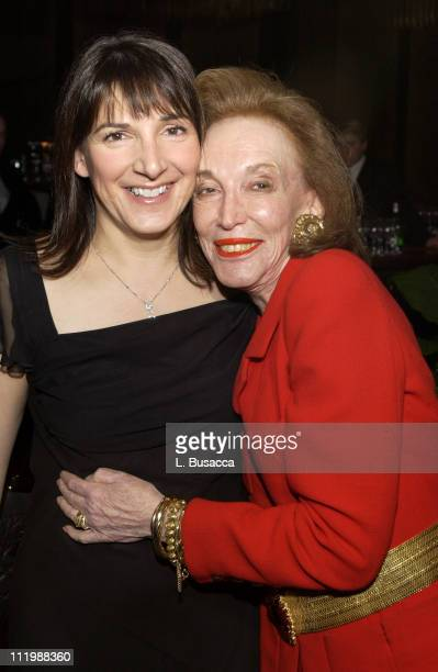 Advertising Age's 2002 Editor of the Year, Bonnie Fuller of Us Magazine, and legendary Cosmopolitan Editor Helen Gurley Brown, embrace at Fuller's...