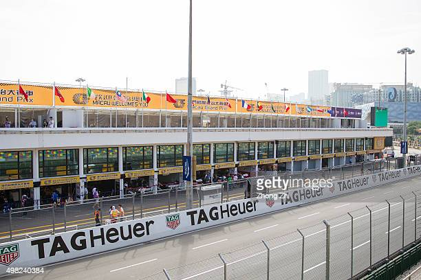 Advertising around the Circuit during the SJM Macau GT CupFIA GT World Cup event as part of the 62th Macau Grand Prix on November 21 2015 in Macau...