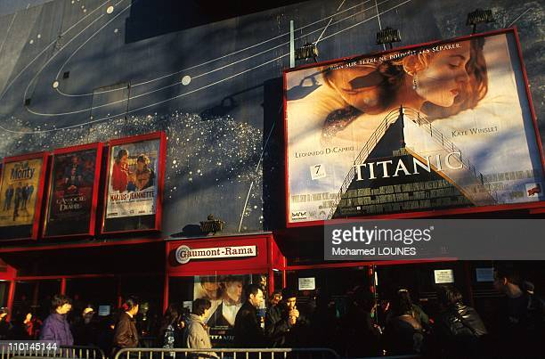 Advertising before the Cinema For The Film Titanic in Paris France in April 1998