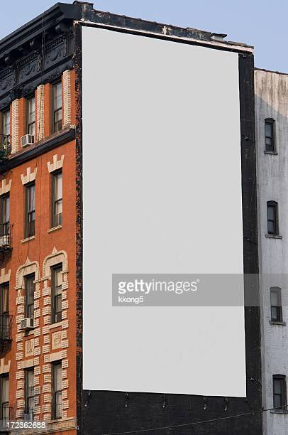 werbung plakat in manhattan, new york - vertikal stock-fotos und bilder