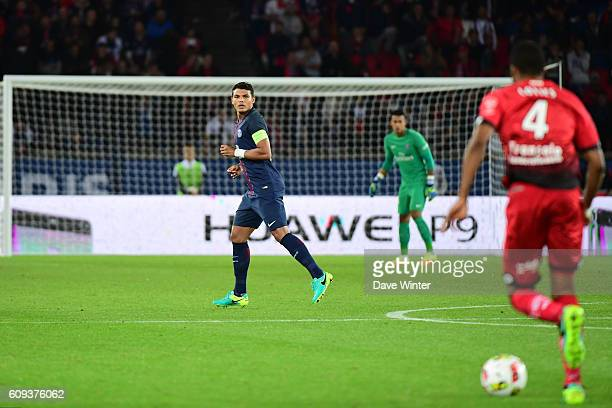 Advertising boards during the French Ligue 1 game between Paris SaintGermain and Dijon FCO at Parc des Princes on September 21 2016 in Paris France