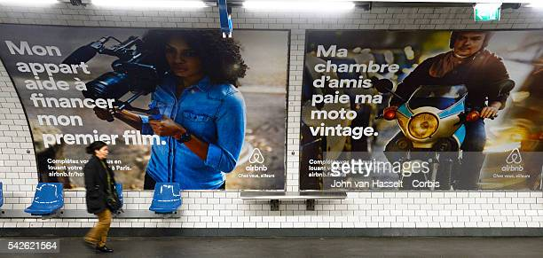 Advertising campaign billboards in the Paris metro for Airbnb Airbnb is the world's leading homesharing company based in San Francisco Paris is the...