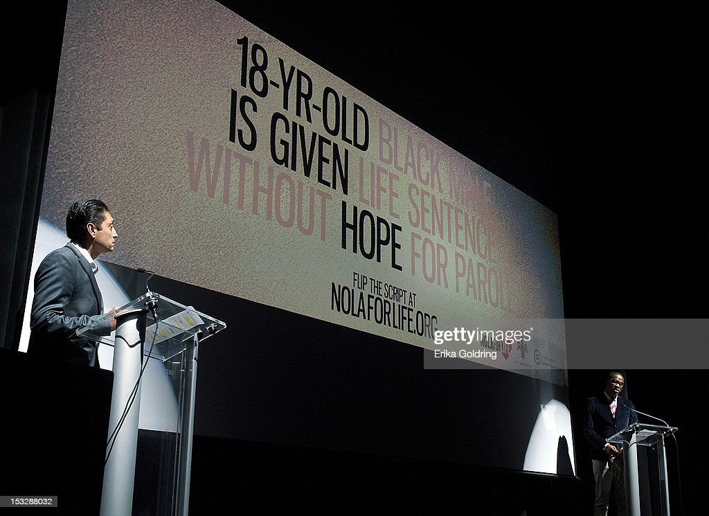 Advertising creatives from Spike DDB sicuss the campaign they created at the 'Flip the Script' Public Awareness campaign launch at The Joy Theater on October 2, 2012 in New Orleans, Louisiana.