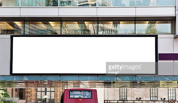 advertising digital billboard blank space in london england - (position) stock pictures, royalty-free photos & images