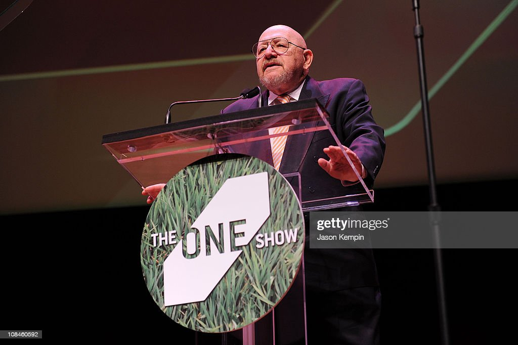 Advertising Executive Jerry Della Femina speaks onstage at the 35th Annual One Show hosted by The One Club at Alice Tully Hall, Lincoln Center on May 13, 2010 in New York City.