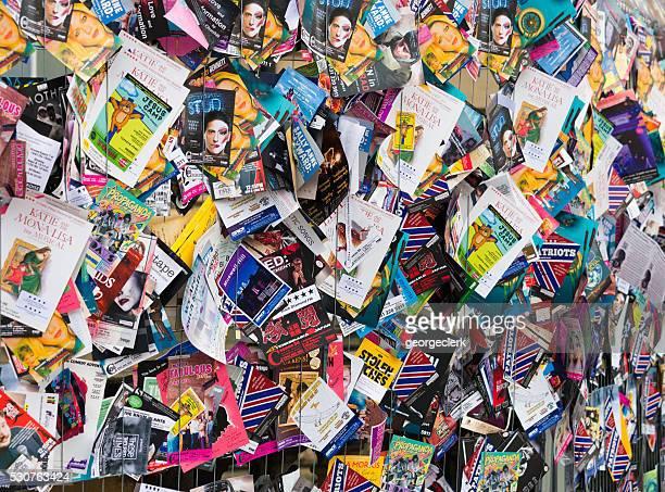 Publicidad folletos para muestra en la franja Festival internacional de edimburgo