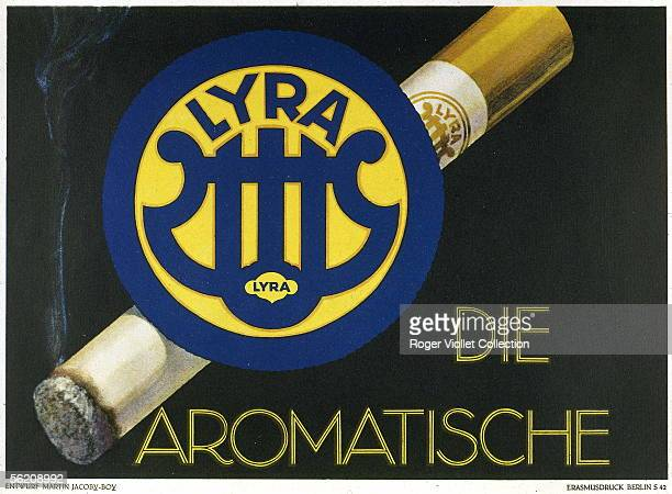 Advertising for cigarettes Lyra about 1930