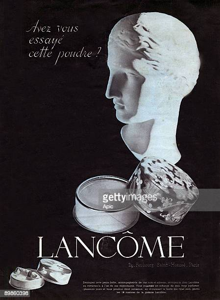Advertising for Lancome powder shade in October 1937