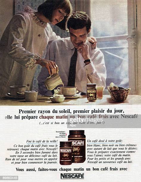 Advertising for Nescafe coffee in August 1965
