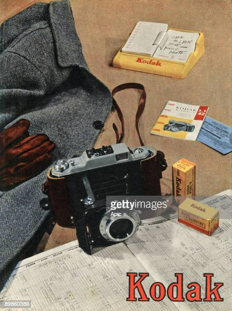 Advertising for the film and Kodak cameras July 1954