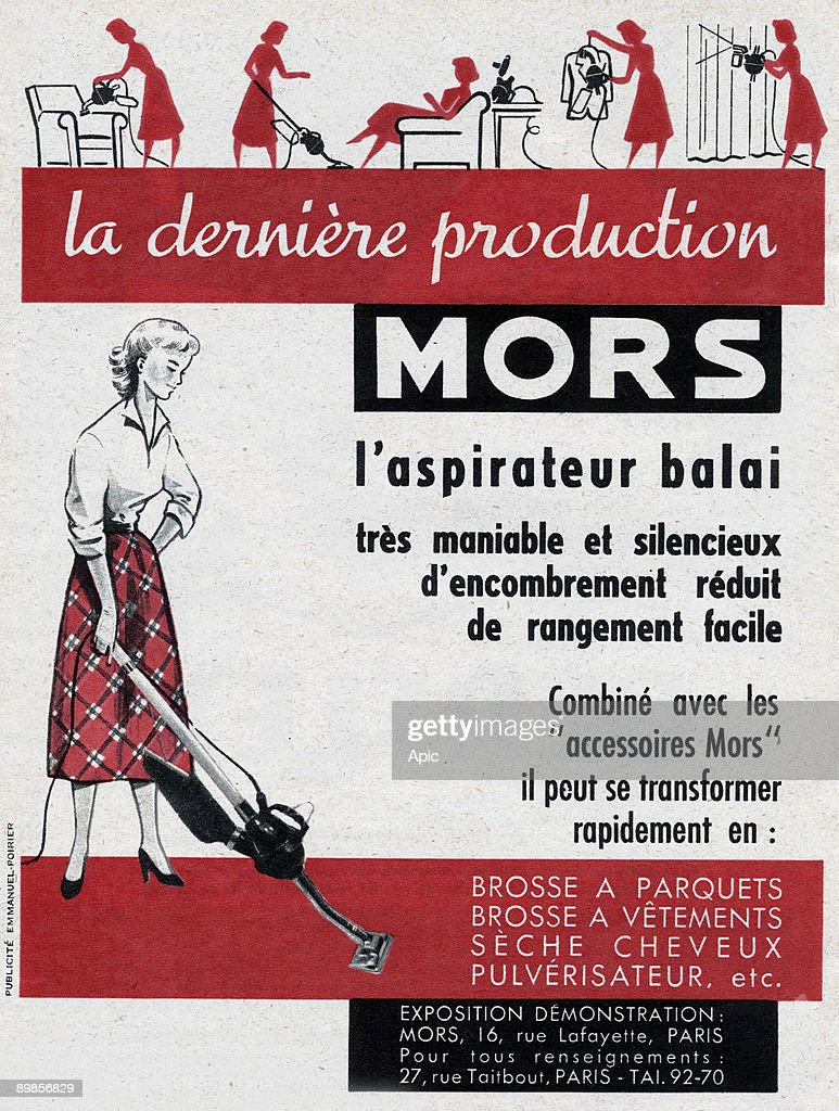 Rangement Pour Seche Cheveux advertising for the vacuum sweeper mors april 1953 news