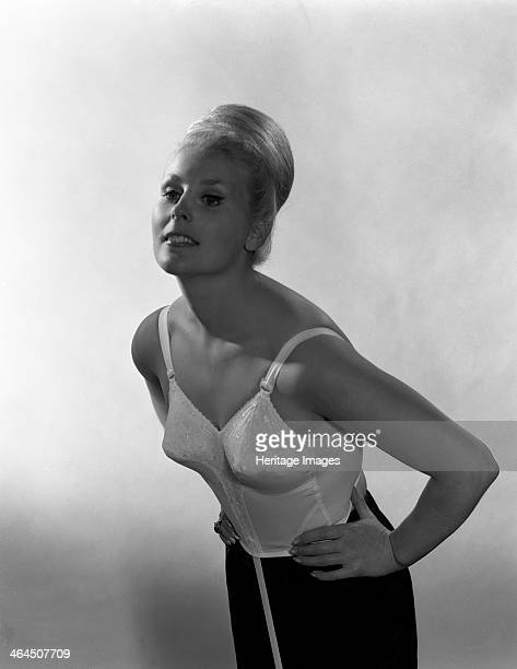 Advertising image for Truline bras 1963 The model has the 'beehive' hairstyle which was synonymous with the 1960s