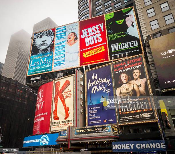Advertising in Times Square in New York for Broadway plays and musicals seen on Sunday January 4 2015 The week ending Sunday January 3 2016 was the...