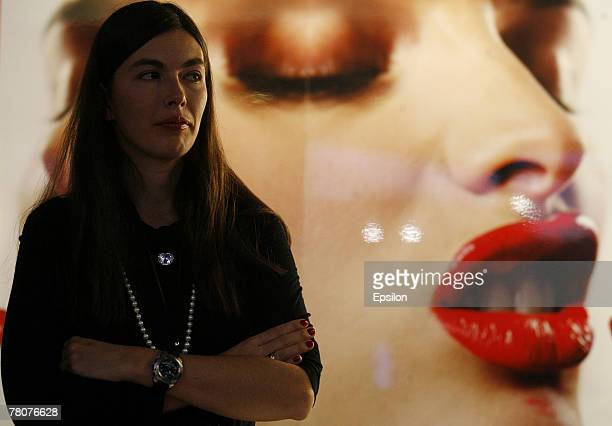 Advertising is displayed at the Millionaire Fair 2007 at Crocus Expo November 22, 2007 in Moscow, Russia. The Millionaire Fair, the world's largest...