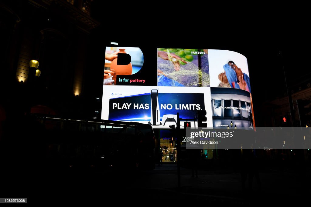 Playstation Takeover Of London Tube Stops For PS5 Launch : News Photo