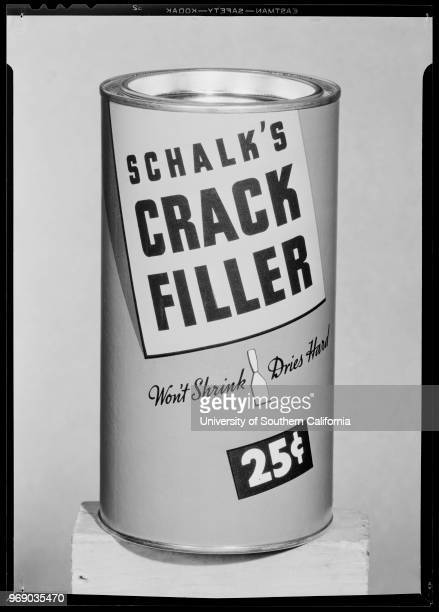 Advertising material for layout 'Crack Filler' 'Double X' etc Schalk Chemical Company Southern California 1940
