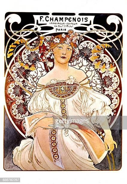 Advertising poster for a printer Alfons Mucha 18601939