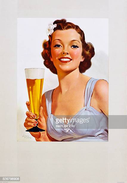 Advertising Poster for Beer by Albert Fisher