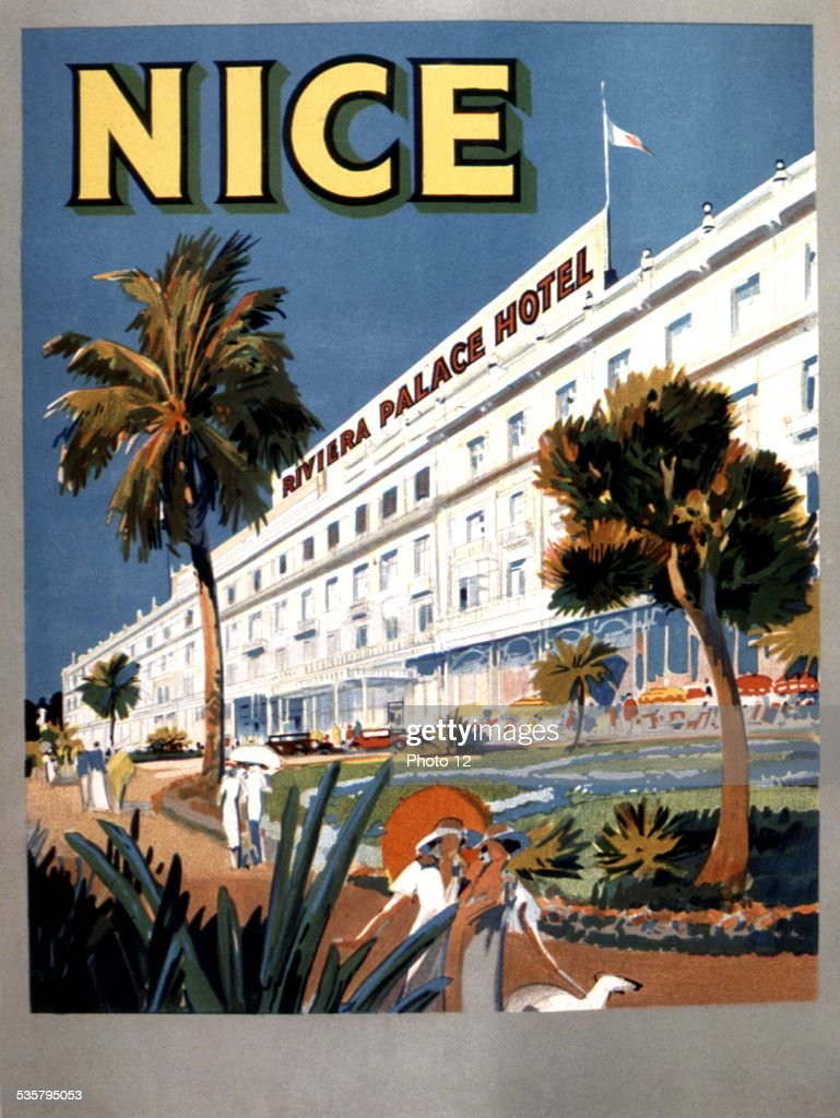 Advertising poster for Nice, Riviera Palace Hotel,, France ...