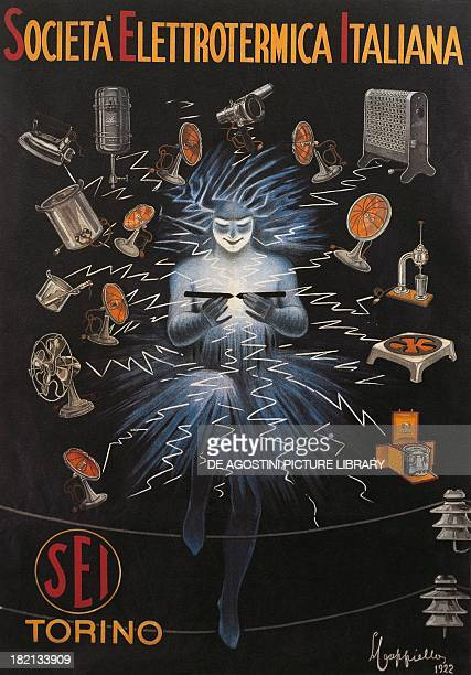 Advertising poster for the Italian Electrical Company of Turin colour lithograph by Leonetto Cappiello Italy 20th century Treviso Museo Civico...