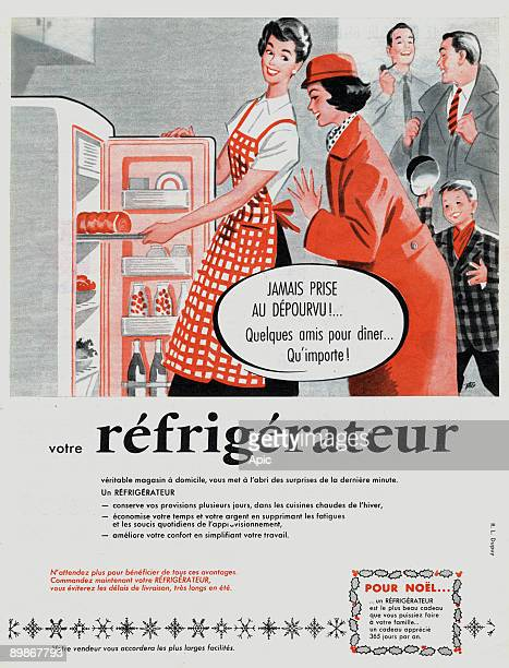 Advertising refrigerator for November 1957