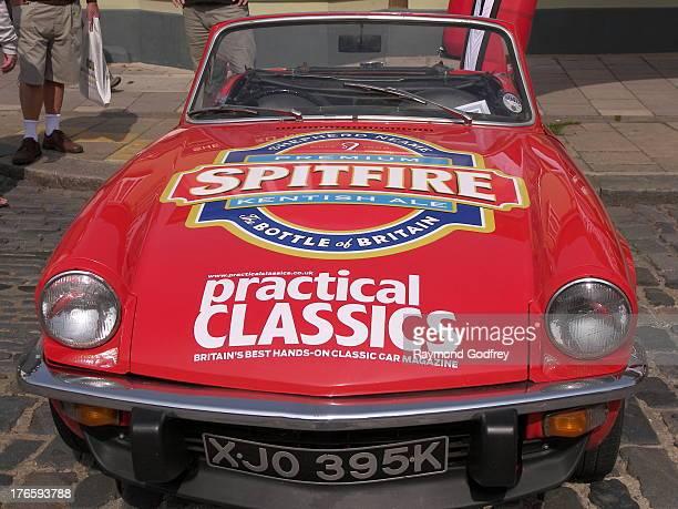 Advertising Shepherd Neame Brewery. Travel Through Time, Faversham Transport Weekend, Kent, 19 May 2012.