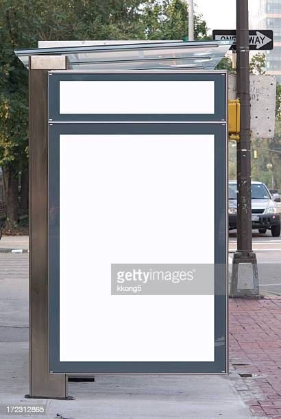 advertising  space - bus shelter - sheltering stock pictures, royalty-free photos & images