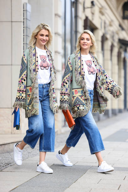DEU: Meise Twins Street Style Shooting In Wiesbaden