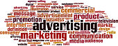 Advertising word cloud concept