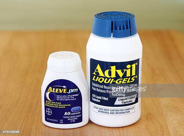 advil and aleve pain reliever medicines - pfizer stock pictures, royalty-free photos & images