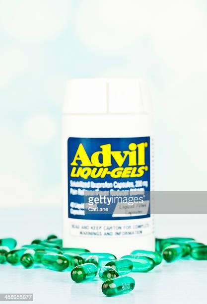 advil liqui-gels - ibuprofen stock pictures, royalty-free photos & images