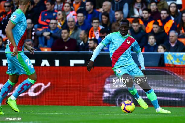 Advincula of Rayo Vallecano during la liga Match between Valencia CF and Rayo Vallecano a at Mestalla Stadium on November 24 2018