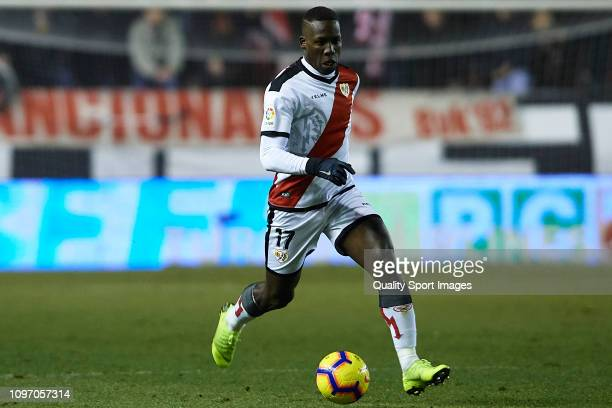 Advincula of Rayo Vallecano in action during the La Liga match between Rayo Vallecano de Madrid and Real Sociedad at Campo de Futbol de Vallecas on...