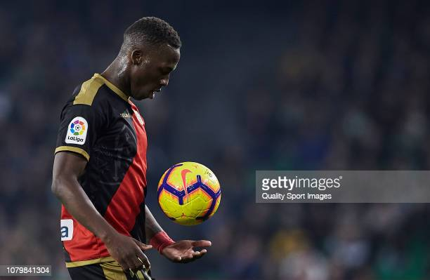Advincula of Rayo Vallecano looks on during the La Liga match between Real Betis Balompie and Rayo Vallecano de Madrid at Estadio Benito Villamarin...
