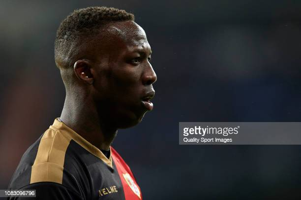 Advincula of Rayo Vallecano looks on during the La Liga match between Real Madrid CF and Rayo Vallecano de Madrid at Estadio Santiago Bernabeu on...