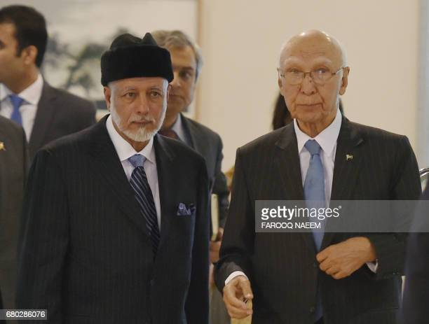 Adviser to the Pakistani Prime Minister on Foreign Affairs Sartaj Aziz and Minister for Foreign Affairs of the Sultanate of Oman Yousuf Bin Alawi Bin...