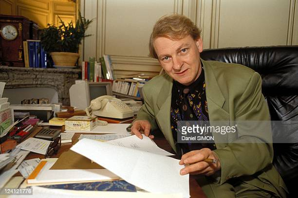 Advisers of Michel Rocard in Paris France on May 15 1991 Guy Carcassonne