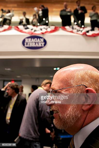 Advisor to Mitt Romney Ben Ginsburg at the Republican Presidential debate at the Ronald Reagan Presidential Library in Simi Valley California