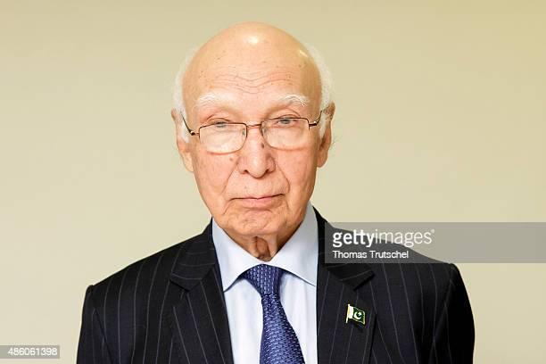 Advisor to Pakistani Prime Minister on Foreign Affairs Sartaj Aziz on August 31 2015 in Islamabad Pakistan