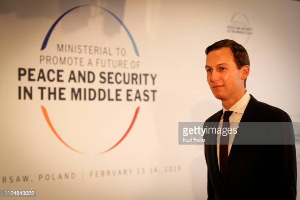 Advisor to President Trump Jared Kushner is seen arriving at the National Stadium in Warsaw Poland on February 14 2019 for the Middle East Peace...