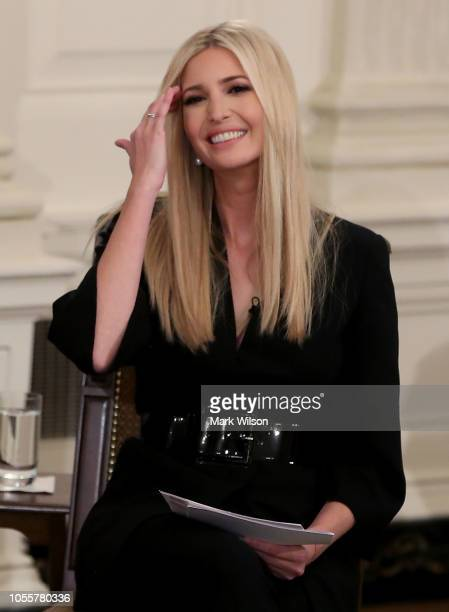 Advisor to the President Ivanka Trump speaks during an event for American workers in the State Dining Room of the White House on October 31 2018 in...